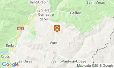 Carte Vars Chalet 58226