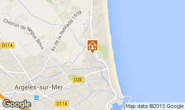 Carte Argeles sur Mer Appartement 28598