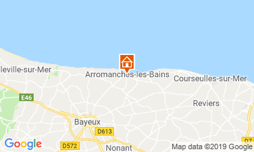 Carte Arromanches Gite 90681