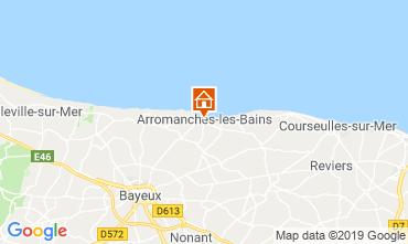 Carte Arromanches Gite 90681