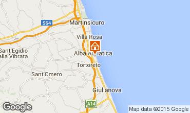 Carte Alba Adriatica Appartement 88815