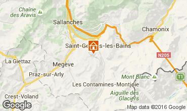 Carte Saint Gervais Mont-Blanc Chalet 80692
