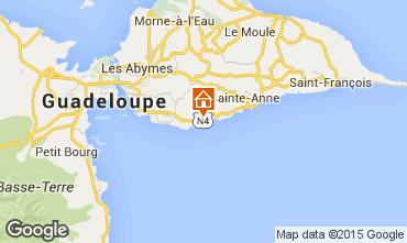 Carte Gosier (Guadeloupe) Gite 101515