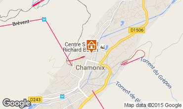 Carte Chamonix Mont-Blanc Appartement 84547