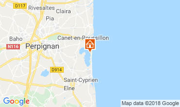 Carte Canet-en-Roussillon Mobil-home 116899