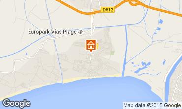 Carte Vias Plage Mobil-home 95245