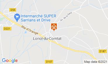 Carte Loriol-du-Comtat Gite 98363