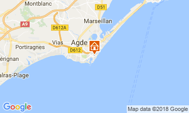 Carte Cap d'Agde Appartement 112271