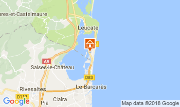 Carte Port Leucate Villa 115630