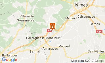 Carte Nîmes Gite 111856