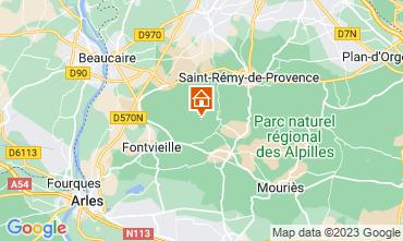 Carte Les Baux de Provence Gite 13098