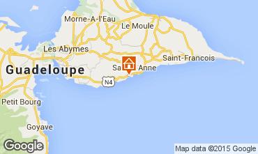 Carte Sainte Anne (Guadeloupe) Villa 87446