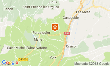 Carte Forcalquier Gite 114564