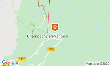 Carte Champagny en Vanoise Appartement 102107