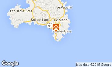 Carte Sainte Anne (Martinique) Villa 8126