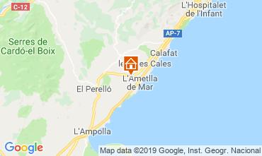 Carte La Ametlla de Mar Villa 81245