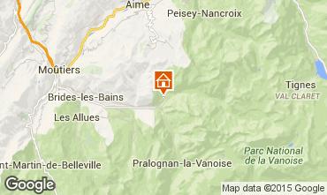 Carte Champagny en Vanoise Chalet 56566