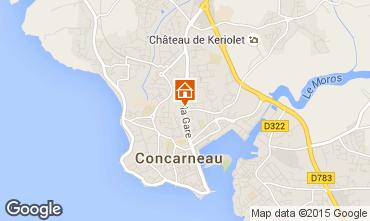 Carte Concarneau Appartement 54537