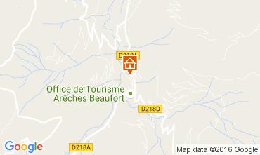 Carte Areches Beaufort Chalet 107220