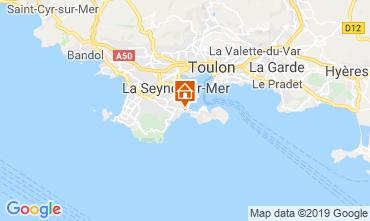 Carte La Seyne sur Mer Gite 117718