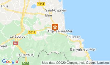 Carte Argeles sur Mer Appartement 24650