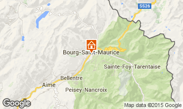 Carte Bourg saint Maurice Studio 239