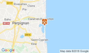Carte Canet-en-Roussillon Mobil-home 117370