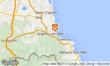 Carte Argeles sur Mer Appartement 54598