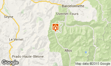 Carte Val d'Allos Studio 3194