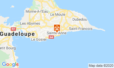 Carte Sainte Anne (Guadeloupe) Bungalow 70986