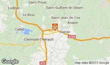Carte Montpellier Gite 35163