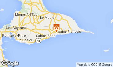 Carte Sainte Anne (Guadeloupe) Gite 71476