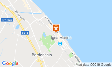 Carte Bellaria Igea Marina Appartement 84906