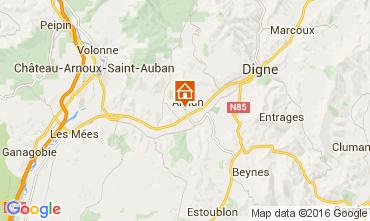 Carte Digne Villa 102311