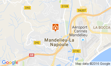 Carte Mandelieu la Napoule Appartement 107349