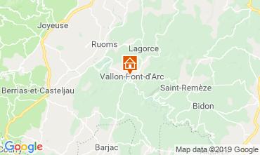 Carte Vallon-Pont-D'Arc Gite 119281