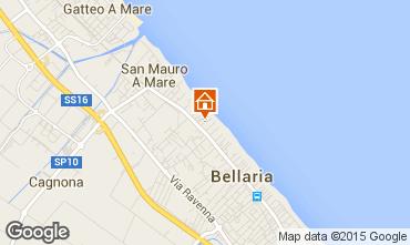 Carte Bellaria Igea Marina Appartement 81740