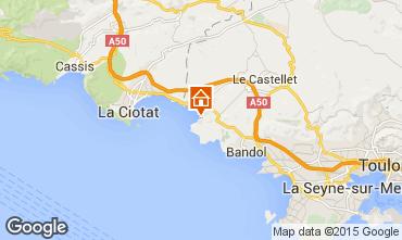 Carte Saint Cyr sur Mer Studio 98998