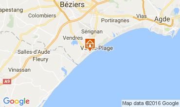 Carte Valras-Plage Appartement 106263