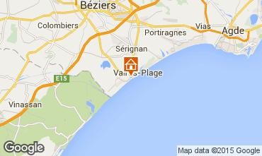 Carte Valras-Plage Appartement 10168