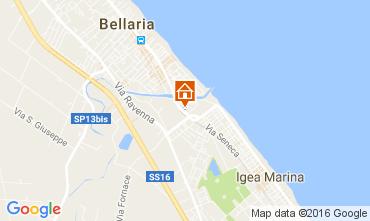 Carte Bellaria Igea Marina Appartement 71681