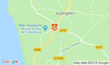 Carte Audinghen Gite 119202