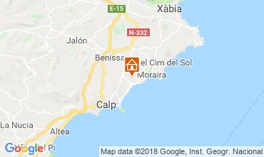 Carte Moraira Villa 109716
