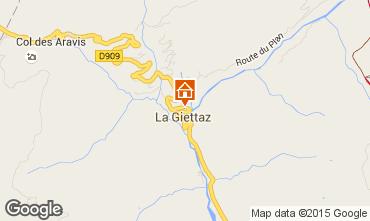 Carte La Giettaz en Aravis Appartement 74256