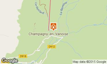 Carte Champagny en Vanoise Gite 586
