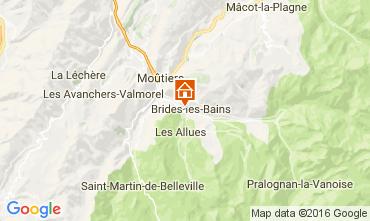 Carte Brides Les Bains Studio 106467