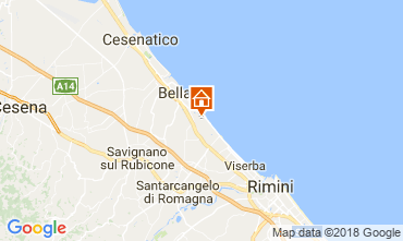 Carte Bellaria Igea Marina Appartement 105282