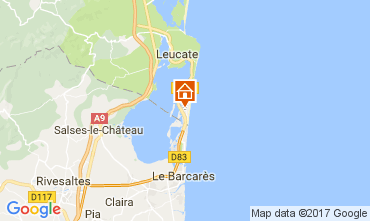 Carte Port Leucate Villa 112213