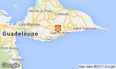Carte Sainte Anne (Guadeloupe) Maison 8025
