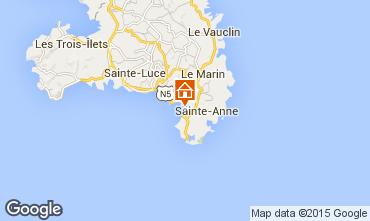 Carte Sainte Anne (Martinique) Villa 99815